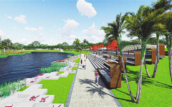 文城镇老城区拟建千亩综合体公园 面积相当万绿园